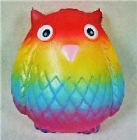 Slow Rising Squishy Toy *Rainbow Owl