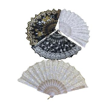 Folding Fan [Gold/Silver Sparkle]