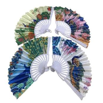 Folding Fan [Printed Peacocks]