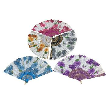 Folding Fan [Sparkle/Flowers]