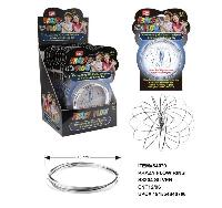 "Flow Rings Kinetic Spring Toy Silver [Display Box] - <span style=""color:red"">HOT TOY IN THE MARKET</span>"