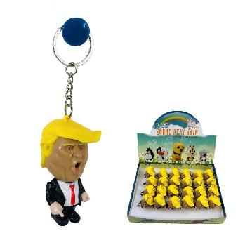 "2.5"" Light Up Key Chain with Sound (TRUMP)  - Trump Key Chain"