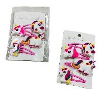 4pk Snap Clip Hair Barrettes [Unicorns]