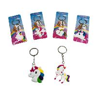 Silicone Unicorn Key Chain