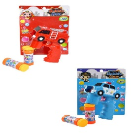 B/O Light Up Bubble Gun with Sound *Safety Vehicle*