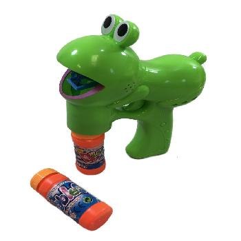 B/O Light Up Bubble Gun with Sound *Frog*