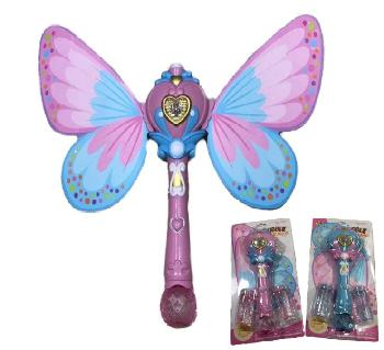 "12"" Light and Sound Fairy Bubble Wand with Wings"