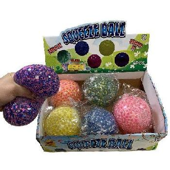"4"" Squish Jelly Ball with Foam Beads"