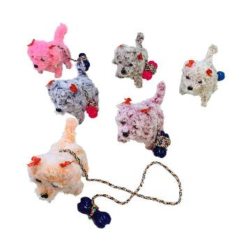 Barking and Walking Dog with Leash [Light Up Head & Tail]