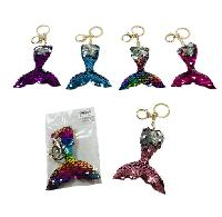 Reversible Sequin Key Chain [Mermaid Tail]