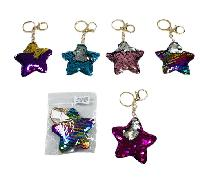 Reversible Sequin Key Chain [Star]