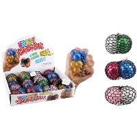 Mesh Squish Ball--Two Tone Glitter