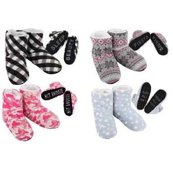 Ladies Cozy House Booties [Expressions]