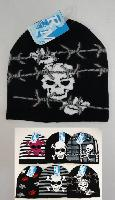 Knitted Beanie--Assorted Skulls