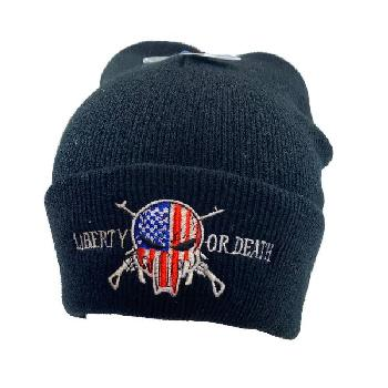 Embroidered Knitted Cuff Hat [Mberty or Death]*TYPO*