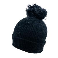 Solid Knitted PomPom Hat [Gray]