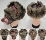 Aviator/Baseball Hat with Fur [Hardwoods Camo]