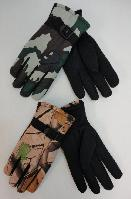 Men's Camo Snow Gloves